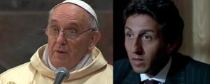 Pape François et Anconina en communion de naïveté