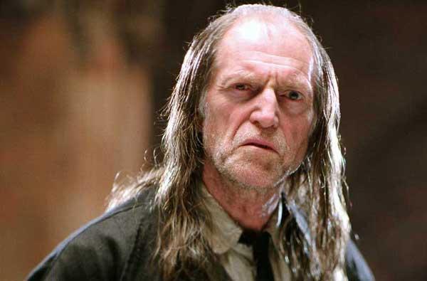 L'angoissant pion Argus Rusard, dans Harry Potter